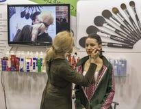 Estet秀丽商展在基辅,乌克兰 图库摄影