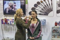 Estet秀丽商展在基辅,乌克兰 免版税库存照片