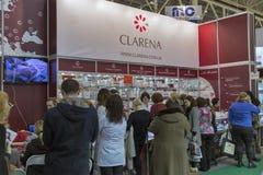 Estet秀丽商展在基辅,乌克兰 免版税图库摄影