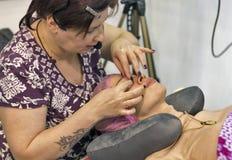 Estet Beauty Expo in Kiev, Ukraine. Stock Images