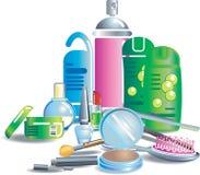 Estetiche e prodotti di bellezza illustrazione di stock