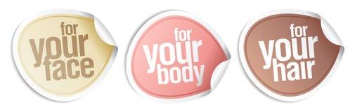 Estetiche per il vostro corpo, capelli, fronte. Fotografia Stock Libera da Diritti