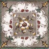 estetisk antik designtegelplatta Royaltyfri Fotografi