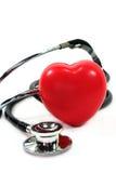 Estetoscópio com coração Fotografia de Stock