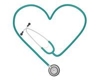Estetoscópio do coração Foto de Stock Royalty Free