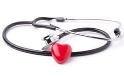 Estetoscópio e coração 2 Imagem de Stock Royalty Free