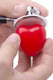 Estetoscópio e coração Foto de Stock Royalty Free