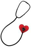 Estetoscópio e coração Imagem de Stock Royalty Free