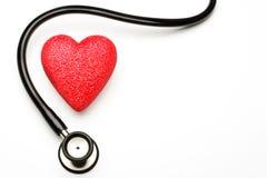 Estetoscópio e coração Fotografia de Stock Royalty Free