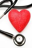 Estetoscópio e coração Imagens de Stock Royalty Free