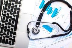 Estetoscópio médico Imagem de Stock