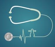 Estetoscópio na forma do coração Fotografia de Stock