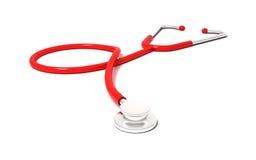 Estetoscópio vermelho Imagem de Stock