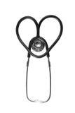 Estetoscopio del corazón Imagen de archivo libre de regalías