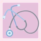 Estetoscopio del equipamiento médico Imagen de archivo libre de regalías