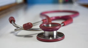 Estetoscopio para el examen médico fotos de archivo libres de regalías