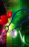 Estetoscopio y corazón Imagen de archivo libre de regalías