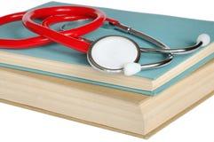 Estetoscópio e livros Fotografia de Stock