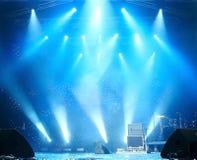 Estágio antes de um concerto Foto de Stock Royalty Free