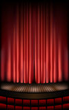 Estágio do teatro Imagens de Stock Royalty Free