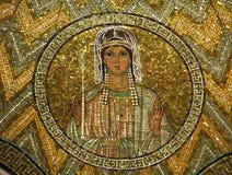 Esther, mozaïek, Kerk van Hagia Maria Zion, Jeruzalem stock afbeelding