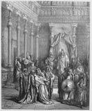 Esther przed królewiątkiem ilustracja wektor