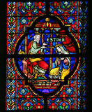 Esther - Stained Glass Stock Photo
