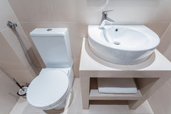 Esthetic toilet Stock Photography
