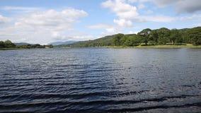 Esthwaite Water Lake District Cumbria near Hawkshead village stock video