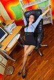 Esticão da mulher de negócios Fotografia de Stock Royalty Free