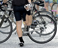 Esticão do ciclista Fotografia de Stock