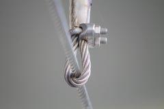 Estilingue da corda de fio Fotografia de Stock Royalty Free