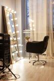 Estilista do local de trabalho, cabeleireiro, barbeiro, bar de Beauty do maquilhador fotos de stock royalty free