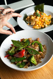 Estilista tailandês do alimento Foto de Stock