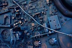 Estilizado de un steampunk mecánico stock de ilustración