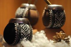 Estilo étnico de la taza de té Imágenes de archivo libres de regalías
