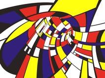 Estilo abstracto de 3D Mondrian Imagen de archivo libre de regalías
