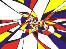 Estilo abstracto de 3D Mondrian Imagenes de archivo