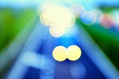 Estilo abstracto - luces Defocused de la carretera Foto de archivo libre de regalías