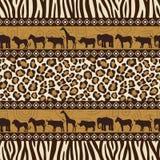 Estilo africano inconsútil stock de ilustración