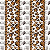 Estilo africano inconsútil con el modelo de la piel del guepardo Foto de archivo libre de regalías