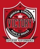 Estilo americana Victory Label del vintage Imagen de archivo libre de regalías