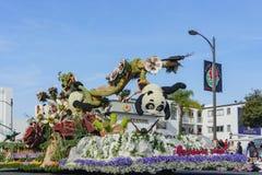 Estilo animal con la panda, serpiente, flotador de Bob Hope Humor Awrad en th Fotografía de archivo