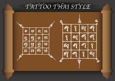 Estilo antigo da tatuagem tailandesa Foto de Stock