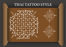 Estilo antigo da tatuagem tailandesa Imagem de Stock Royalty Free