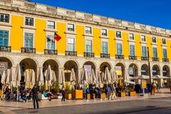 Estilo antigo de construir Lisboa Imagens de Stock Royalty Free
