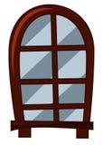 Estilo antiquado da janela ilustração do vetor