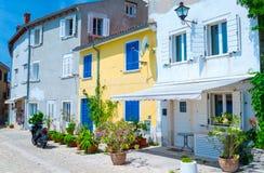 Estilo arquitetónico mediterrâneo europeu tradicional no st Imagens de Stock