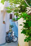 Estilo arquitetónico mediterrâneo europeu tradicional no st Foto de Stock