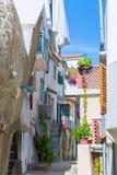 Estilo arquitetónico mediterrâneo europeu tradicional no st Imagem de Stock Royalty Free